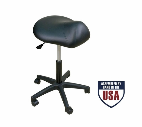 Oakworks Premium Stool with Saddle Seat