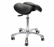 Rolling Split Seat Saddle Stool - Spa Luxe (MS13D)
