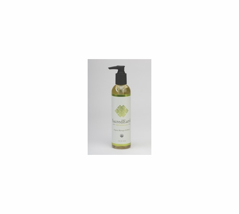 Sacred Earth Botanicals - Certified Organic Massage Oil - 8 oz.