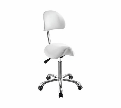 Saddle++ - Rolling Stool with Back Support 1024AB3