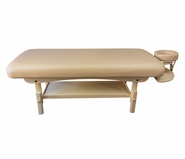 Spa Luxe - Stationary Massage Table (includes Headrest & Arm Shelf)