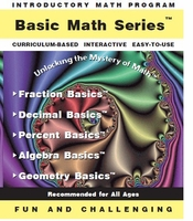 Basic Math Software Series - Fractions<br>Decimals<br>Percents<br>PreAlgebra<br>Geometry