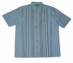 100% Linen Blue & White Pin Stripe Men's Cubavera Shirt  - Medium & Large Sizes