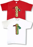 808 Rasta Area Code Cotton Tee Shirt
