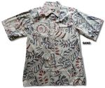 Abstract Monstera go barefoot mens placket reverse shirt