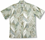 Abstract Watercolor Businessman's Reverse Aloha Shirt