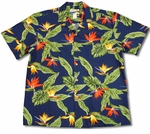 Airbrush Bird of Paradise I waimea casuals mens shirt
