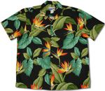 Airbrush Bird of Paradise II waimea casuals mens aloha shirt