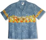 CLOSEOUT Aloha Beer Bottles Men's Chest Band Shirt
