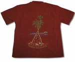 Christmas Happy Holiday Tree Embroidered Shirt