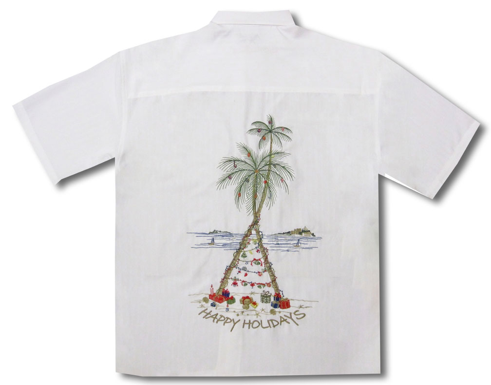 0a2b3c296 CLOSEOUT Christmas Happy Holiday Tree Embroidered Shirt