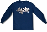 Aloha Dash (Tattoo design) long sleeve Hawaiian T-Shirt