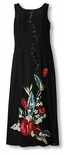 Anthurium Bouquet Sheath Two Palms Rayon Dress