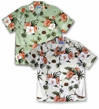 CLOSEOUT Anthurium Hibiscus men's shirt