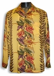 Anthurium Panel Vintage Kamehameha Long Sleeve