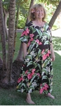 Anthurium Plumeria Plus Size Dress