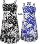 April Blooms Elastic Strap A-Line women's aloha style dress