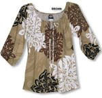 CLOSEOUT Artistic Hawaiian Womens Peasant Blouse