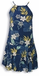 Autumn Tropical Women's Halter Strap Hawaiian Aloha Dress