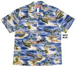 5X Aviation Air Power WW 2 men's airplane aloha shirt