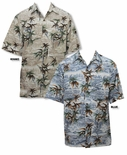 Bamboo Tranquility Men's Go Barefoot Cotton Aloha Shirt