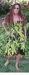 Bamboo Jungle Love One Size Batik Smocked Dress
