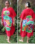 Batik Caftan Kaftan Hand Painted Full Figure style dress