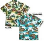 5X Beach Shack Woody Surfboard Blue Shirt