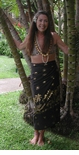 Golden Woodie Full Size Terivoile Sarong Wrap