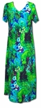 Beauteous Flower Poetry V-Neck Rayon Evening Dress