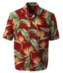 Beautiful Bird of Paradise Mens Rayon Shirt