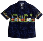 CLOSEOUT Beer Bottle and Cans Men's Shirt