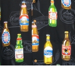Beer Bottles #1 Vintage Paradise Found 100% Rayon Hawaiian Aloha Shirt