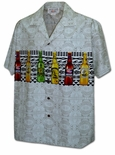 Beer Bottles Chest Band men's cotton aloha shirt