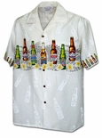Beer Lovers chest band cotton aloha men's shirt
