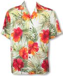 Big Hibiscus Men's Rayon Shirt