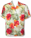 Big Hibiscus Men's Aloha Shirt small sizes only