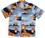Big Island Hawaii Volcano Boy's 2pc Cabana Set