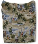 Big Wave Woodie Surfboards Elastic Waist Cargo Shorts