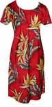 CLOSEOUT Bird of Paradise #2 A Line Cap Sleeve Dress