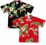 Bird of Paradise Display boy's made in Hawaii shirt