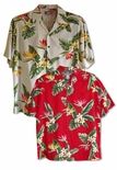 Bird of Paradise Display Men's aloha shirt & family styles