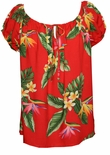 Bird of Paradise Display Peasant Blouse Shirt