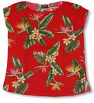 Bird of Paradise Display women's pullover blouse