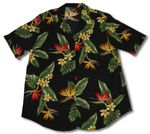 Bird of Paradise Display Womens Long Camp Shirt
