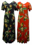 Bird of Paradise Display women's cap sleeve long dress
