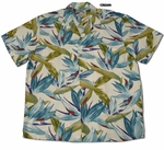 Watercolor Bird of Paradise men's shirt