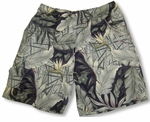 Bird of Paradise Men's Swim Trunks