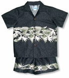 Bird of Paradise Monstera Boy's 2 pc Cotton Cabana Set