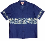 Bird of Paradise Monstera Men's Chest Band Shirt